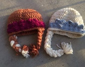 Set of sisters Ana and Elsa hat frozen inspired beanie