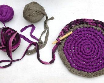 Rag Rug Tutorial PDF --- Instant Download --- DIY Crocheted Rag Rug instructions --- TAGT Team