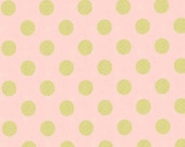 Michael Miller - Quarter Dot Pearlized in Blush - By the Yard