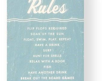 Beach House Rules 11 x 17