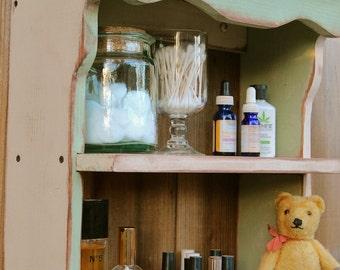 Shabby - Wooden - Wood Shelf - Towel Holder - Beach Cottage Chic - Farmhouse Chic