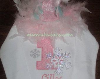 Snowflake Birthday Shirt and Hat