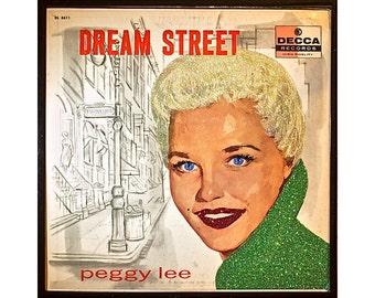 Glittered Vintage Peggy Lee Dream Street Album Art
