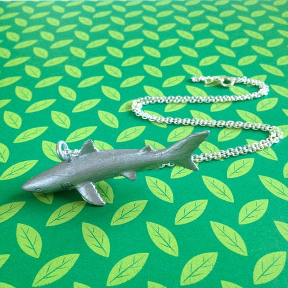 Mako Shark Toys : Toy mako shark critter necklace silver by fromjlootoyou on