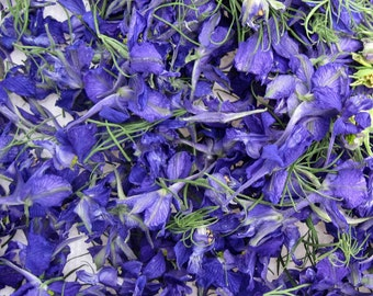 Dried Blue Larkspur, Purple, Flower Girl, Flowers, Dried Flowers, Craft Supply, Aisle Decor, Flowers, Wedding Decorations, 12 US cups