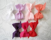 Hair Bow Clip -- Pinwheel Bow -- You Pick One