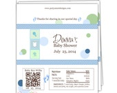 Baby Shower Candy Wrappers/Candy Wrappers/Hershey Candy Bar Wrappers/Shower Wrappers/Chocolate Bar Wrappers