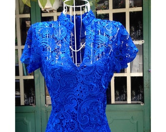 couture-2 lace  designer inspired dress custom made wiggle lace
