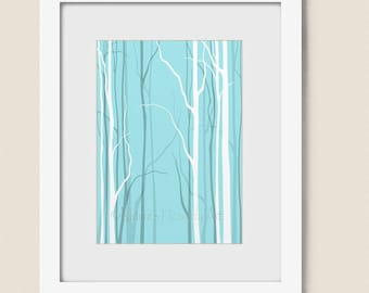 Aqua Wall Decor tree wall decor | etsy