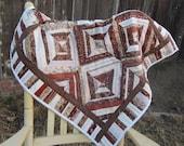 Rich russet lap quilt or hanging