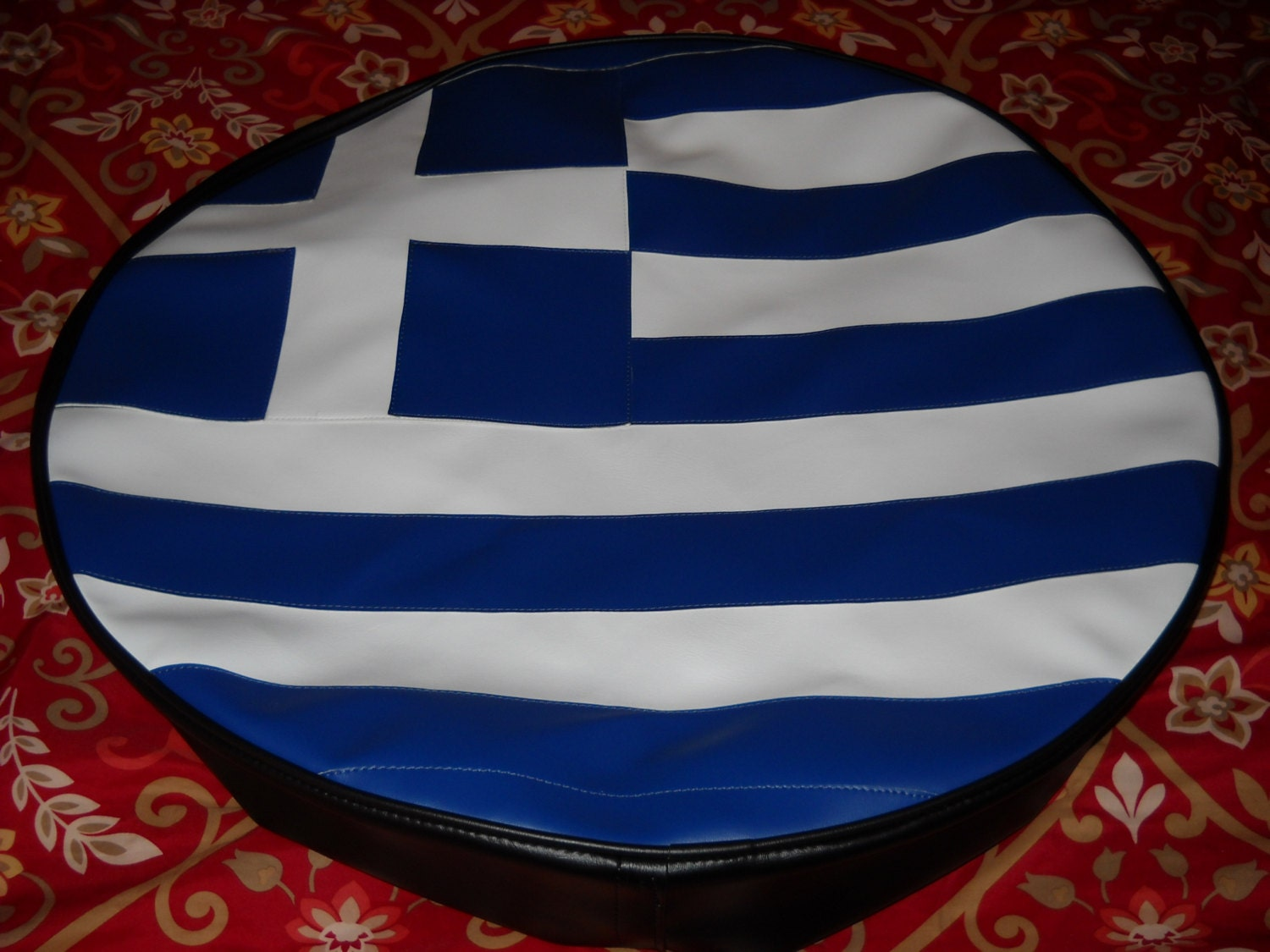 spare tire cover monogram greek flag