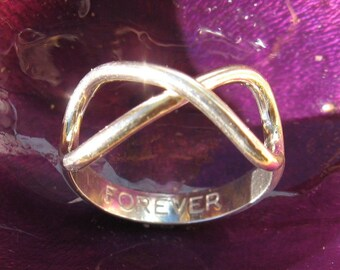Sterling Silver Infinity Forever Ring