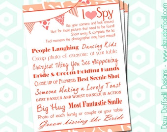 I Spy Wedding Game - Custom Color - Shades of Cheer