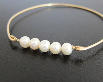 Cultured Freshwater Pearl Bracelet, Wedding Cultured Pearl Jewelry, Cultured Pearl Bangle, Cultured Pearl Braclet, Cultured Pearl Jewlery