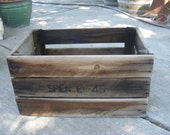 DRAFT BOX 18 Vintage Apple Crate Fruit Box Rustic Wood Box 1946 Washington Apples