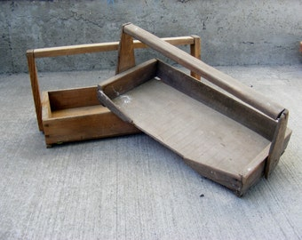 Wooden Berry Totes Rustic Wood Vintage Strawberry Box Carriers