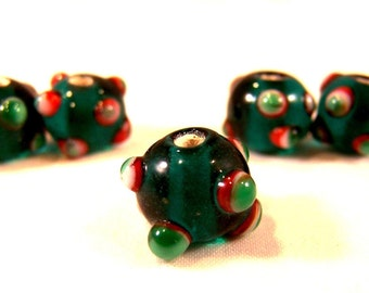 FREE SHIPPING - 5 pcs Handmade Lampwork Beads (#1917-1)