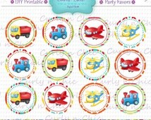 """INSTANT DOWNLOAD -2"""" Party Favor Toppers-  -Printable Party Tag, Cupcake Topper, DIY, You Print, You Cut -"""