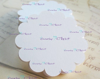 "72 Scalloped Circle Tags Size 3.5"" Scalloped Circles die cuts -Cardstock tags -Scalloped labels -Paper die cuts -Paper Die cuts"