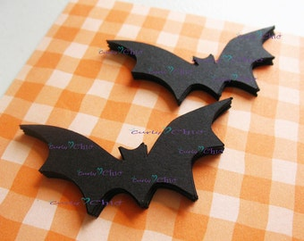 "36 Bat Die cuts Size 2.25"" x 1.15"" In Non-textured or Textured Cardstock paper"