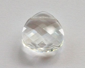 Swarovski Crystal Pendant  Flat Briolette 6012 Crystal Pendant CLEAR Crystal -- Available in 11mm or 15mm