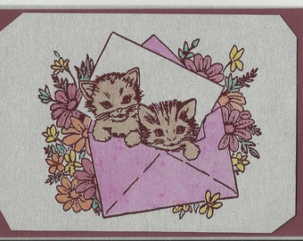 All Occasion Post Card-Set of 5-Kittens in Envelope