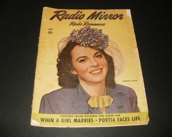 Radio Mirror Magazine, May 1944, Radio Romances, WW2 Era, Vintage Art, Scrapbooking, Paper Ephemera, Romantic Stories, Collectible Magazine