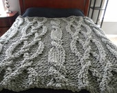 """The """"Twisted Sister"""" Chunky Knit Blanket pattern - Pattern Only - permission to sell what you make"""