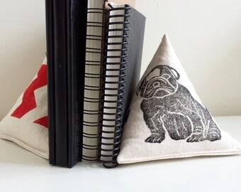 Bookend - English Bulldog - block printed