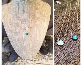 Opal Dainty Gold Necklace
