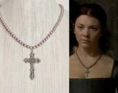 SALE 20% OFF!- Anne Boleyn Cross Necklace- n114