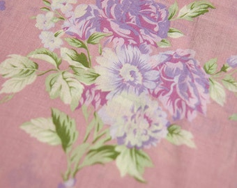 Mery flowers on Antique pink Gauze Cotton 148cm WIDE, U028