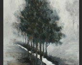 ON SALE Spring Fog -   Original Acrylic Landscape Painting