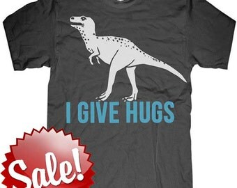 Mens unisex T-shirt - T REX DINOSAUR ---- sizes sm med lg xl xxl skip n whistle