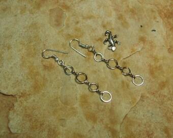 Silver Chain Loop Earrings