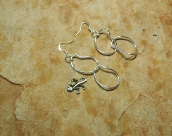 Solid .925 Silver Chain Link Earrings