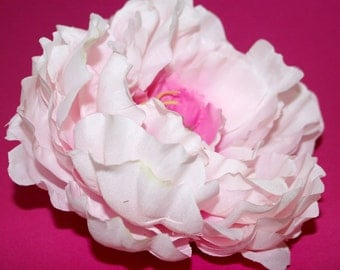 Large Cotton Candy Pink Peony- Artificial Flowers