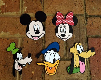 Mickey and Friends *set of 5 die cuts * available in several sizes