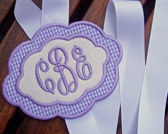 Monogrammed Hairbow Holder - Perfect Girl's Birthday Gift - You Choose the Colors