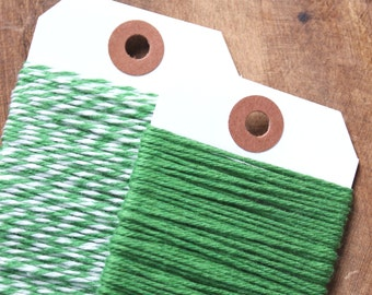 Green Bakers Twine, Green Cotton Twine, Christmas Gift Wrap, Baker's Twine, Christmas Bakers Twine, Gift Wrapping, Cotton String (15 yds)