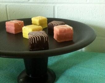Modern Black Dessert Pedestal