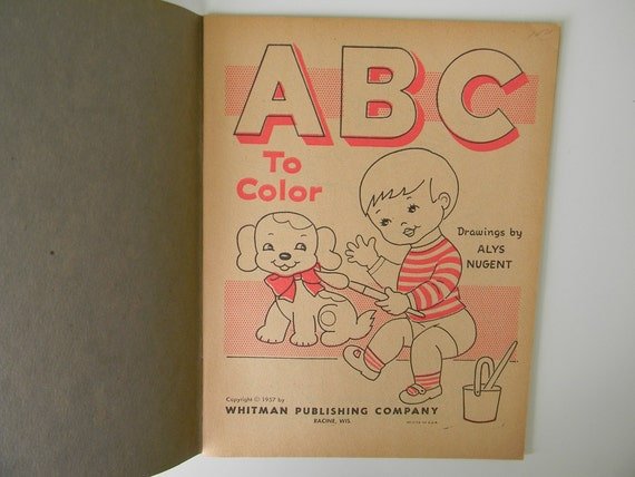 vintage coloring pages 1950s - photo#37