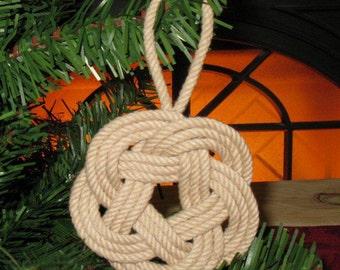 Nautical Ornament Sailor Knot Tan Christmas Tree