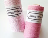 PINK Bakers Twine Pink Twine Pink Cotton String 240 Yards Gift Wrap Baby Shower Decoration Twine
