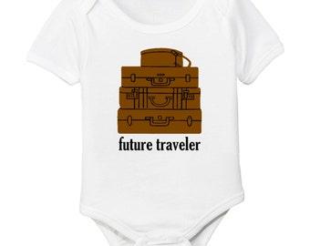 Future Traveler Suitcases Organic Baby Bodysuit