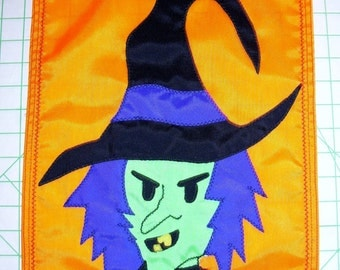 Wicked Witch Halloween 12 inch by 18 inch Garden Flag