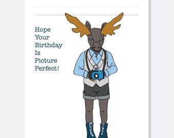 Moose Birthday Card, Fun Birthday Card, Animal Birthday Card, Kid Birthday Card, Boy Birthday Card, Girl Birthday Card