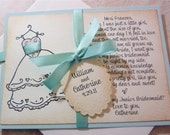 Will you be my Junior Bridesmaid Invitation Personalized Card Vintage Wedding