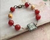 Bead Bracelet Carnelian Gemstone Red Orange Wellbeing Jewelry -  Confidence