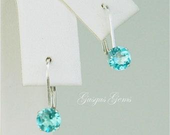 Apatite Sterling Silver Leverbacks 5mm 1.05ctw